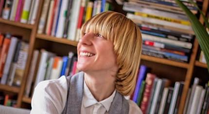 Donatella Lanuzzi en la librería Nollegiu