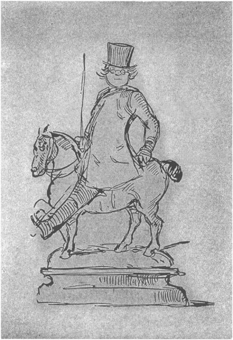 Autocaricatura de William Makepeace Thackeray