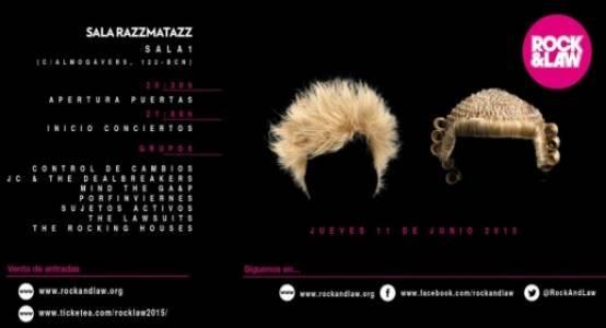 Rock & Law Barcelona 2015 en Razzmatazz