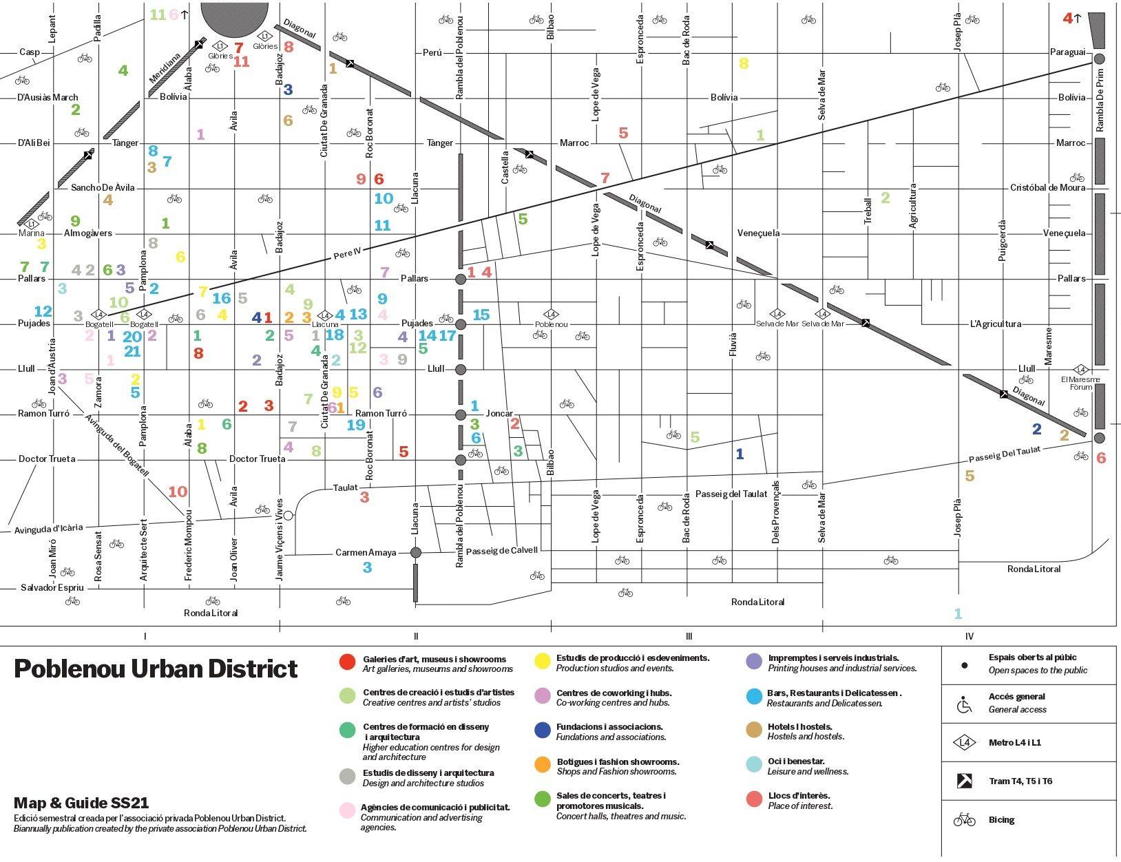 Mapa Poblenou Urban District
